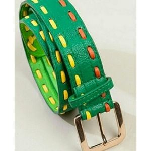 Green Stitched Waist Belt